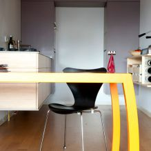 kitchen, rvs, bamboo, grey mdf, wine storage, bended table, smart space use, bended legs