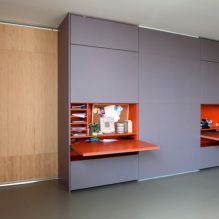 roomdividing closet, orange mdf, grey mdf,bamboo, folding desk, folding bureau
